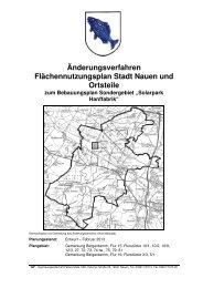 Änderungsverfahren Flächennutzungsplan Stadt Nauen und Ortsteile