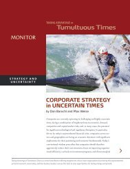 CORPORATE STRATEGY in UNCERTAIN TIMES - Center for ...