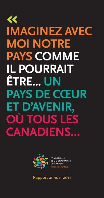 Rapport annuel 2011 - Community Foundations of Canada