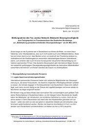 Stellungnahme des Tax Justice Network (Netzwerk ... - Weed