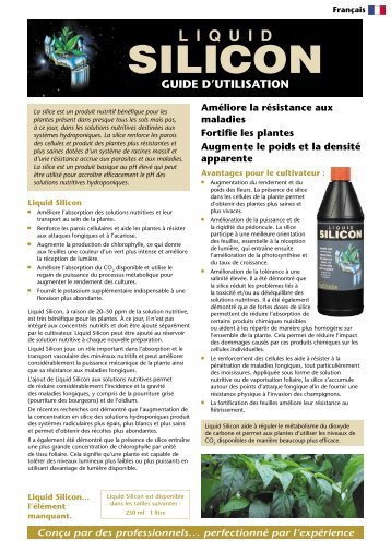 GT743 Liquid Silicon instructions - French.indd - Growth Technology