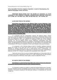 Proposed resolutions - Viscofan