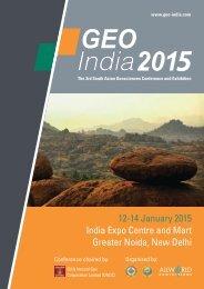 Geo India 2015 E-brochure - Allworld Exhibitions