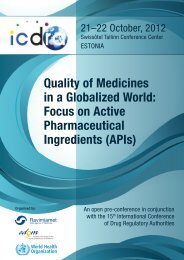 Quality of Medicines in a Globalized World: Focus on Active ...