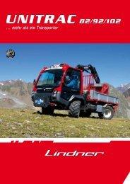 Folder Unitrac 82/92/102 - Lindner Traktoren