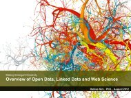 Overview of Open Data, Linked Data and Web Science