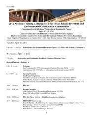 Conference Agenda - ChemicalRight2Know