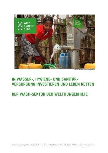 IN WASSER-, HYGIENE- UND SANITÄR ... - Welthungerhilfe