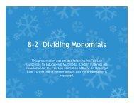 8-2 Dividing Monomials - Mona Shores Blogs