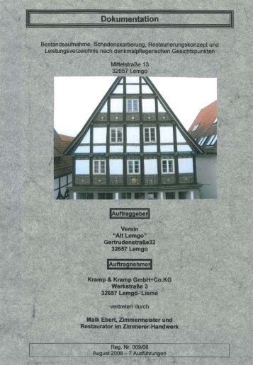 Dokumentation Steinbachhaus in Lemgo - Kramp & Kramp