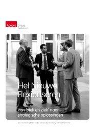 'Het Nieuwe Flexibiliseren – van 'piek en ziek' - Adecco