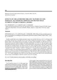 effects of urea-enriched organic manures on soil fertility, tea ...