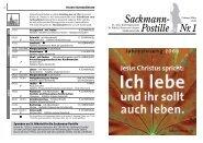 Sackmann- Postille Nr. 1 - St. Nikolai Limmer