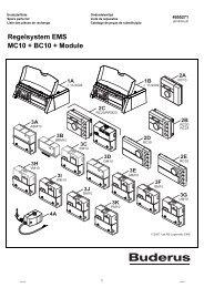 Regelsystem EMS MC10 + BC10 + Module - Buderus