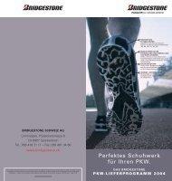 Perfektes Schuhwerk für Ihren PKW. - Bridgestone EUROPE