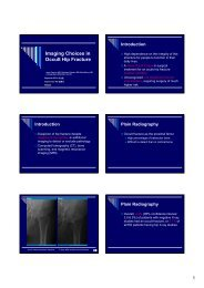 Imaging Choices in Occult Hip Fracture