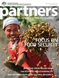 FOCUS ON FOOD SECURITY - ACIAR