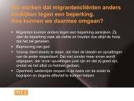 We merken dat migrantencliënten anders aankijken ... - swphost.com