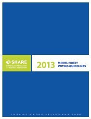 2013 model proxy voting guidelines - Shareholder Association for ...