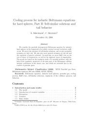 Cooling process for inelastic Boltzmann equations for hard ... - UMPA
