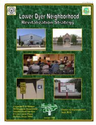 Lower Dyer Revitalization Strategy - City of El Paso