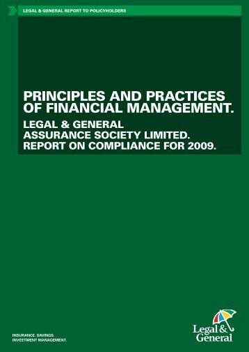 principles and practices of financial management. - Legal & General