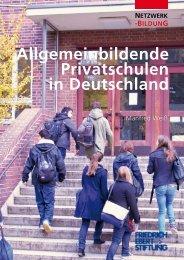 Allgemeinbildende Privatschulen in Deutschland - Bibliothek der ...