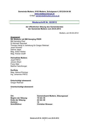 Protokoll vom 5. April 2012 (224 KB) - .PDF - Mutters