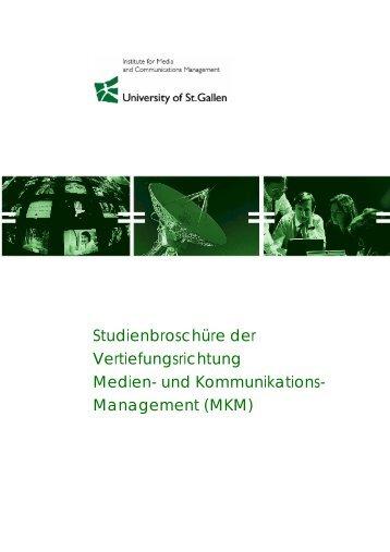 Studienführer - Universität St.Gallen