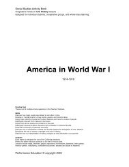 America in World War I - Series Review