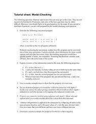 Tutorial sheet: Model-Checking