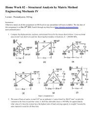 Home Work 02 – Structural Analysis by Matrix Method Engineering ...