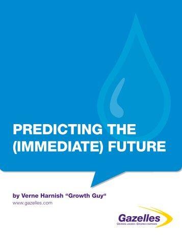 PREDICTING THE (IMMEDIATE) FUTURE - Gazelles