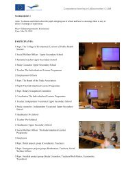 WORKSHOP 1 PARTICIPANTS: 1 Repr. The College of ... - Buf