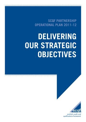 SCQF Operational Plan 2011-2012 - Scottish Credit and ...