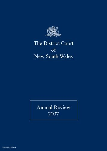 2007 District Court Annual Review (PDF)