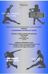 Dance One Poster-Hill School 2012 v4 - Dance One Studios