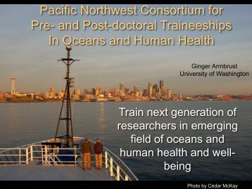 Pacific Northwest Consortium for Pre- and Post-doctoral ...