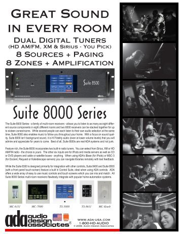 Suite 8000 Series - Hill Residential Systems