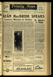 MacBRIDE SPEAKS - Trinity News Archive