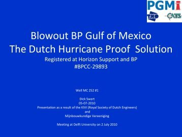 Blowout BP Gulf of Mexico