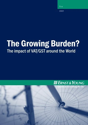 The growing burden? – the impact of VAT/GST around the world