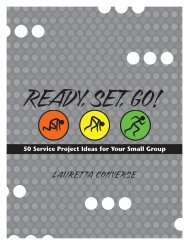 ChApTER 1 Ideas for movers and Shakers and ... - Youth Specialties