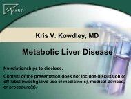 Metabolic Liver Disease - AASLD