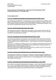 SPD-Fraktion 15. Dezember 2006 im Rat der Stadt Braunschweig ...