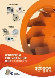 CENTRIFUGAL FANS AND IN-LINE DUCT EXTRACTORS - Sodeca