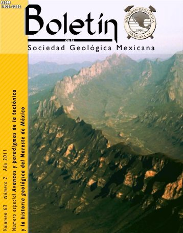 Portada forros, índice/Froncover - Boletín de la Sociedad Geológica ...