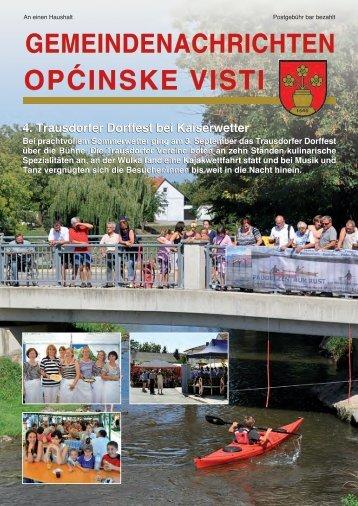 Gemeindenachrichten Oktober 2011 - in Trausdorf an der Wulka