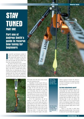 Issue 61 Beginners Recurve Bow Tuning part 1 - Perris Archery