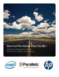 Don't Let the Clouds Pass You By ! - Parallels